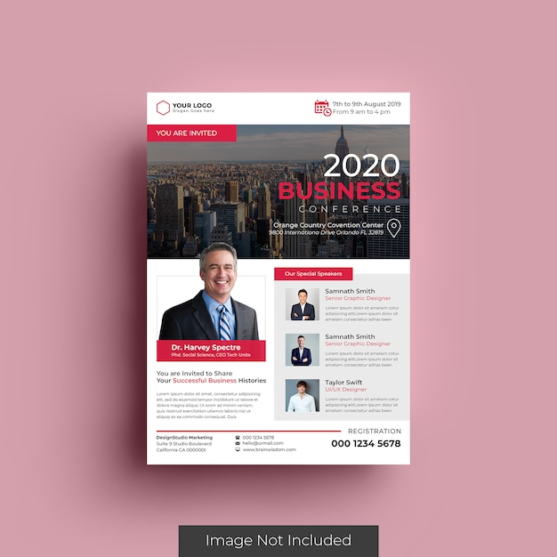 Business flyer vorlage Premium PSD