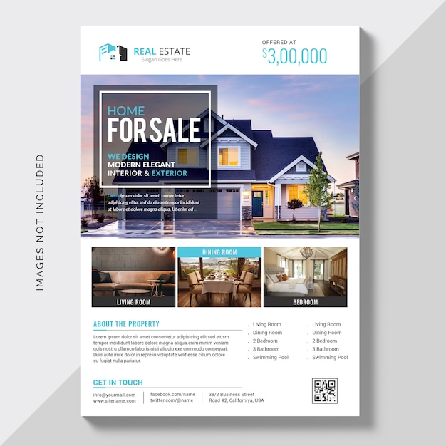 Business flyer vorlage Kostenlosen PSD