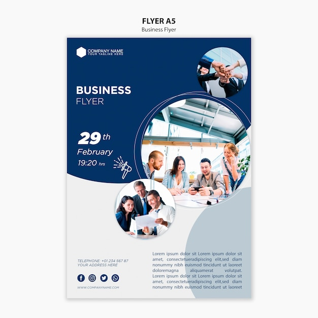 Business flyer vorlage Premium PSD