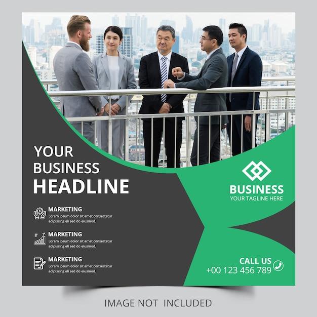 Business headline agentur banner vorlage Premium PSD