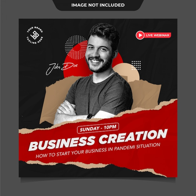 Business instagram social media post vorlage Premium PSD