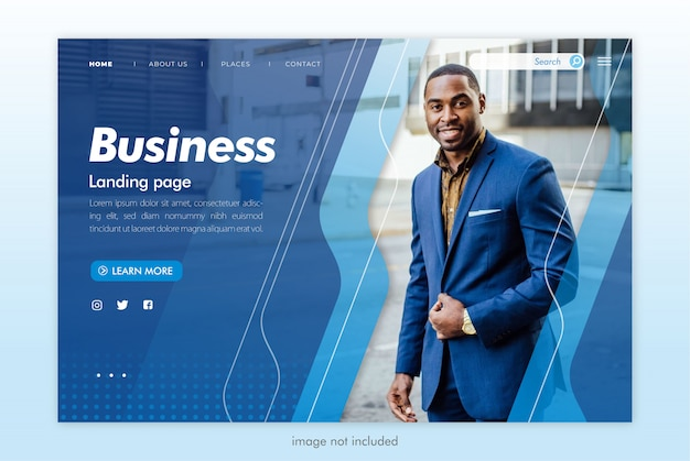 Business landing page website vorlage Premium PSD
