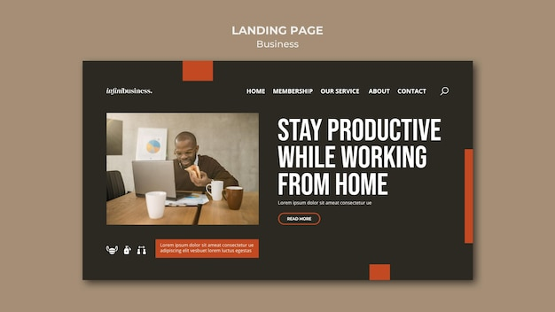 Business-landingpage Kostenlosen PSD