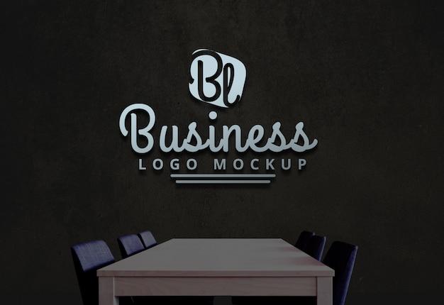 Business logo mockup psd-logo-modell Premium PSD