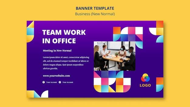 Business neues normales bannerdesign Kostenlosen PSD