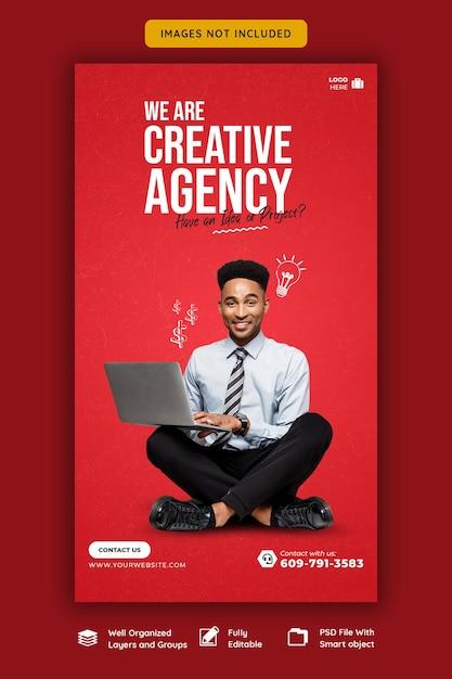 Business promotion und kreative instagram story vorlage Kostenlosen PSD