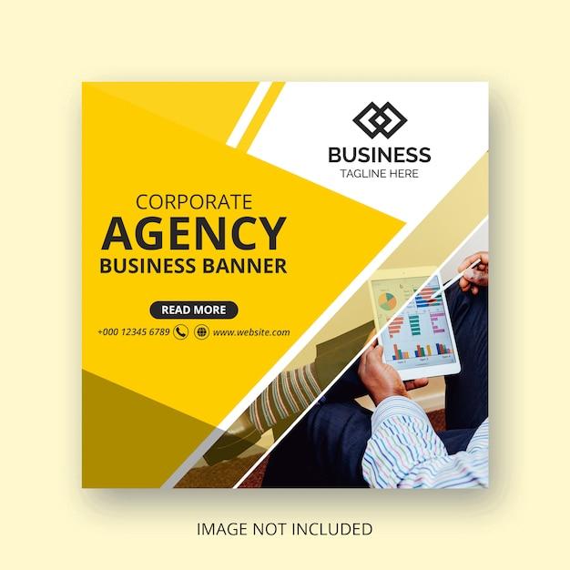 Business social media banner design Premium PSD