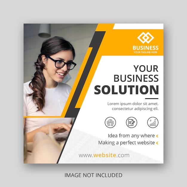 Business social media post vorlage Premium PSD