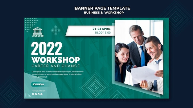 Business & werkstatt banner Kostenlosen PSD