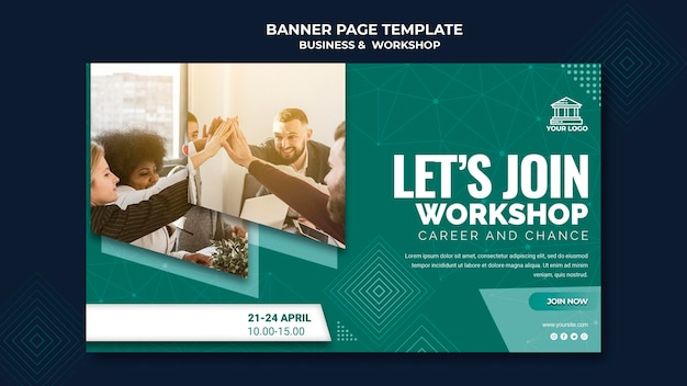 Business & workshop banner thema Kostenlosen PSD