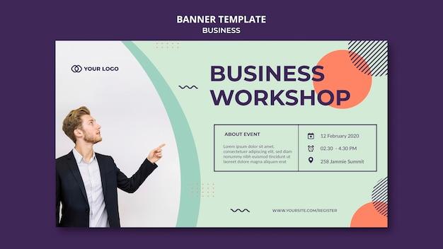 Business workshop konzept banner vorlage Kostenlosen PSD