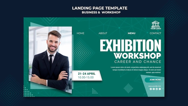 Business & workshop landing page Kostenlosen PSD