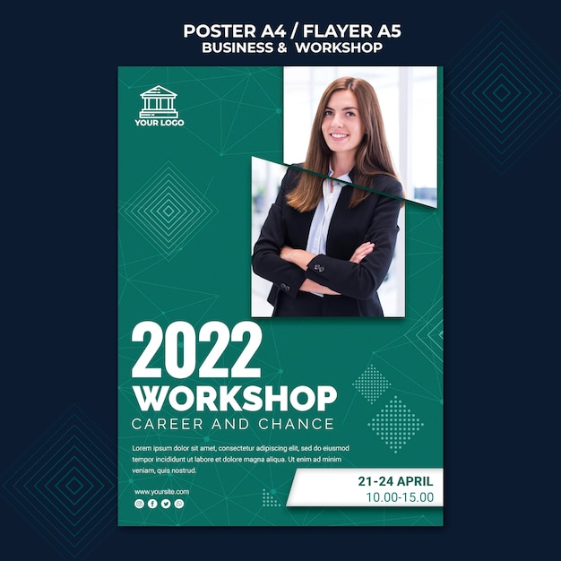 Business & workshop poster design Kostenlosen PSD