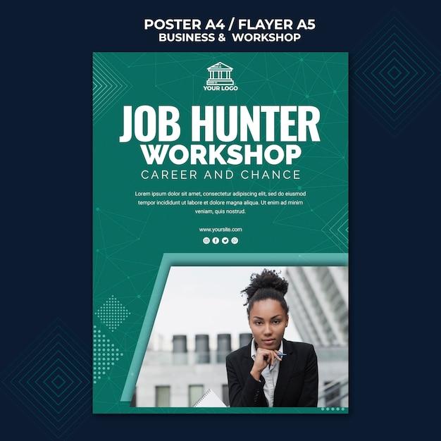 Business & workshop poster thema Kostenlosen PSD