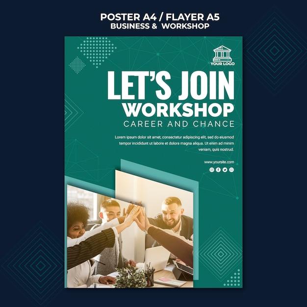 Business & workshop poster Kostenlosen PSD