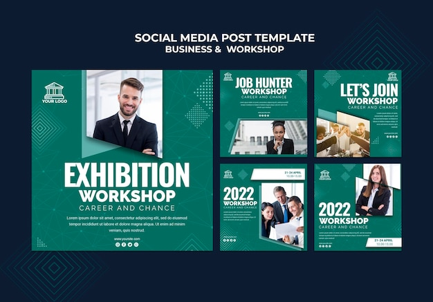 Business & workshop social media post Kostenlosen PSD