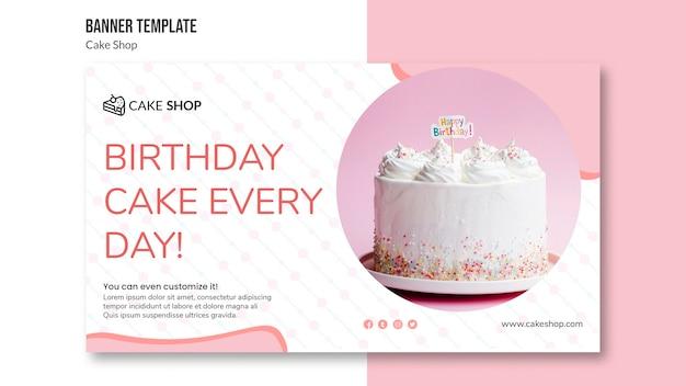 Cake shop konzept banner vorlage Kostenlosen PSD