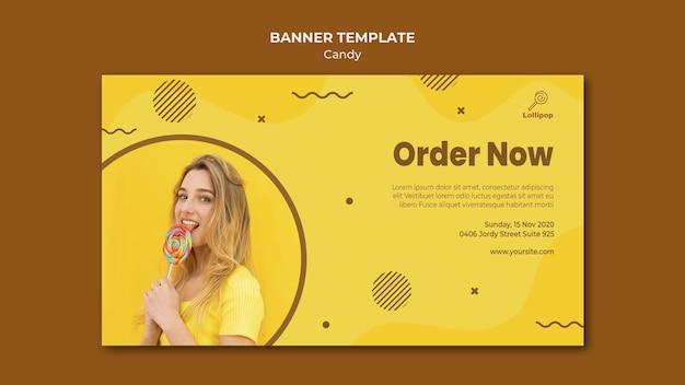 Candy shop banner vorlage Kostenlosen PSD