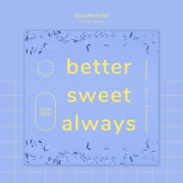 Candy-shop-konzept für flyer vorlage Kostenlosen PSD