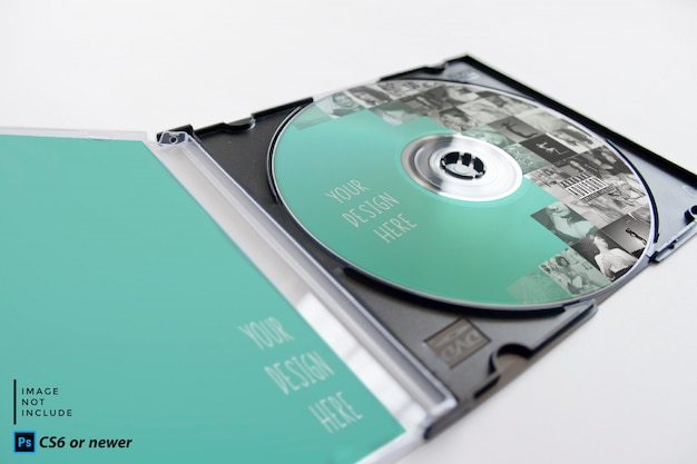 Cd-paket mock-up Premium PSD