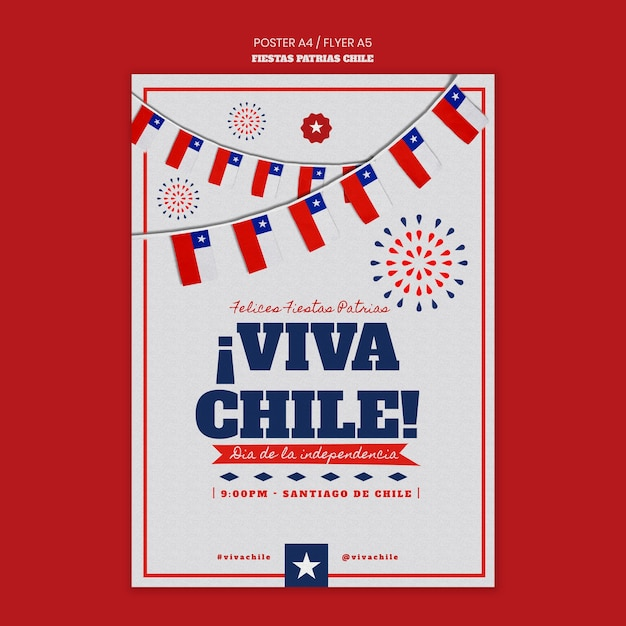 Chile international day poster design Kostenlosen PSD