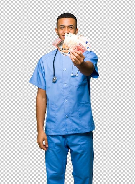 Chirurg doktormann, der viel geld nimmt Premium PSD