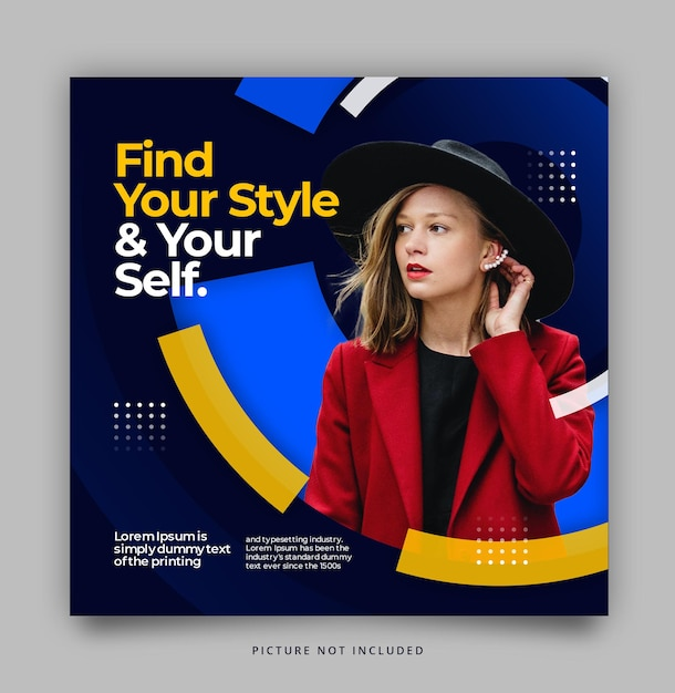 Circle modern social media instagram template Kostenlosen PSD