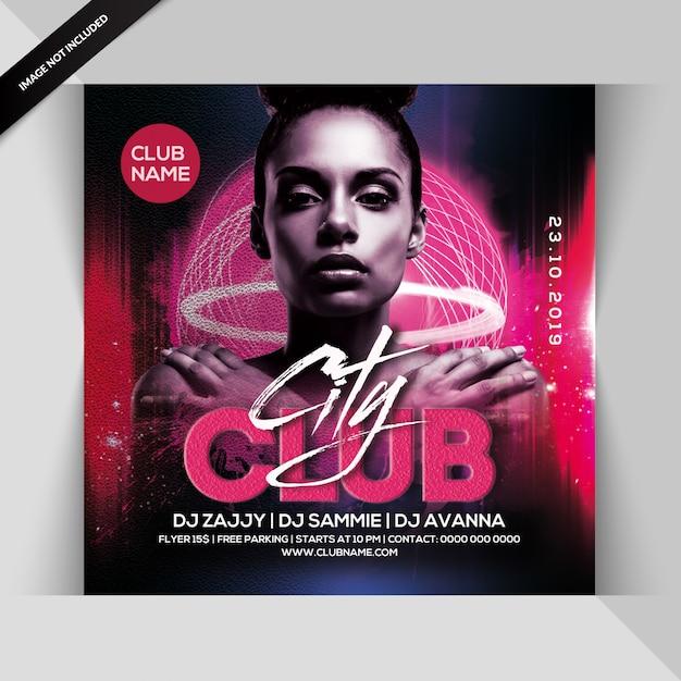 City club party flyer Premium PSD