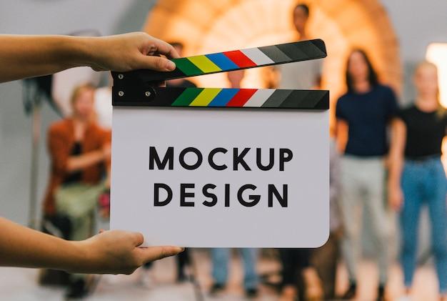 Clapperboard-modell für filmset-produktion Premium PSD