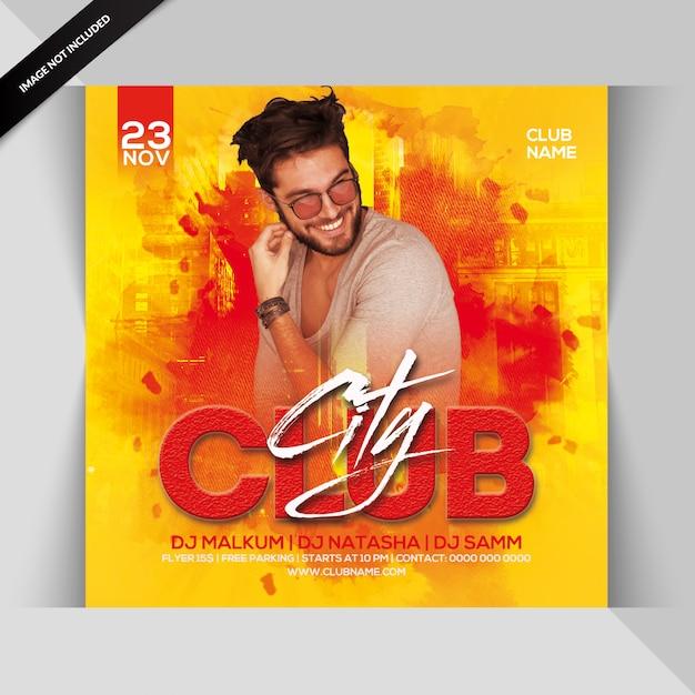 Club city nacht party flyer Premium PSD