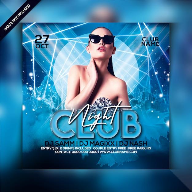 Club nacht party flyer vorlage Premium PSD