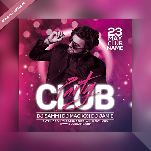 Club party flyer Premium PSD