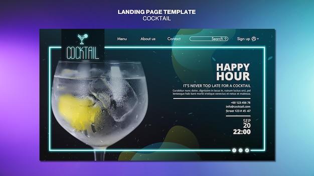 Cocktail-konzept-landingpage-vorlage Kostenlosen PSD