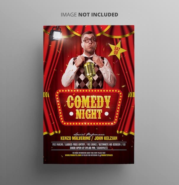 Comedy night flyer Premium PSD