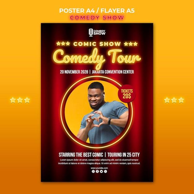 Comedy show poster vorlage Kostenlosen PSD