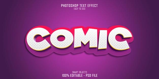 Comic 3d text style effekt Premium PSD