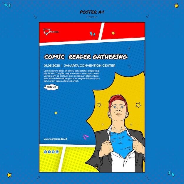 Comic-plakatvorlage Kostenlosen PSD