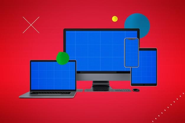 Computer- und smartphone-modell Premium PSD