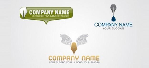 Content-schriftsteller logo-designs Kostenlosen PSD