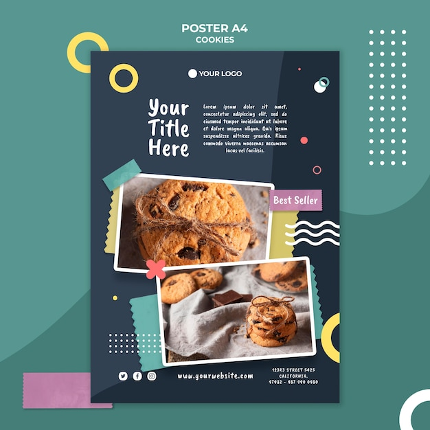 Cookie shop anzeigenvorlage poster Kostenlosen PSD