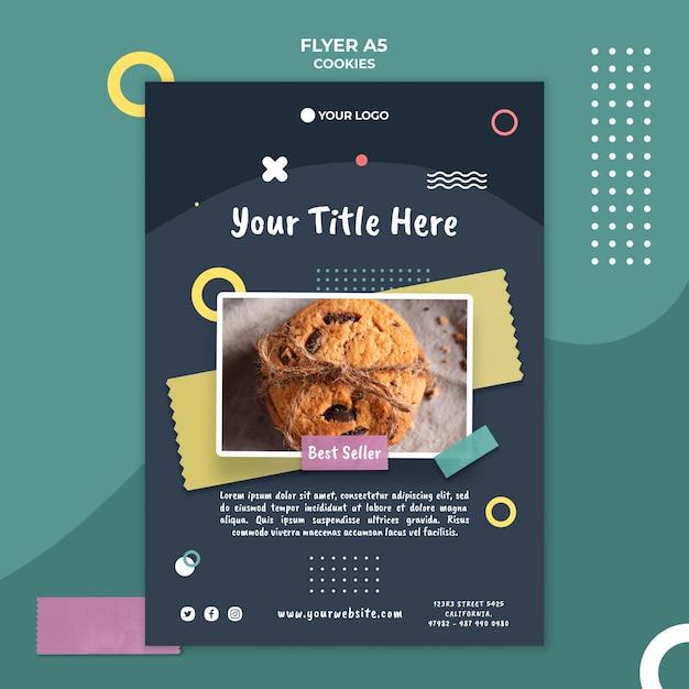 Cookie shop flyer vorlage Kostenlosen PSD