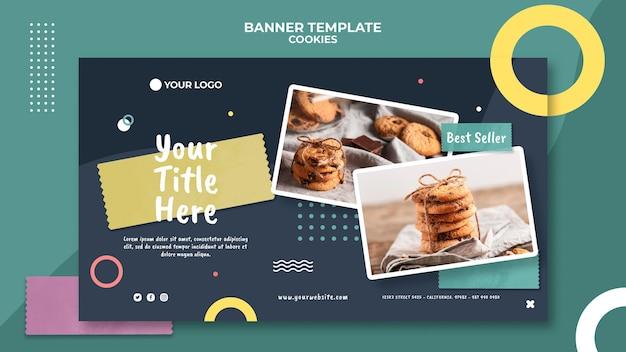 Cookie-shop-werbebanner-vorlage Kostenlosen PSD