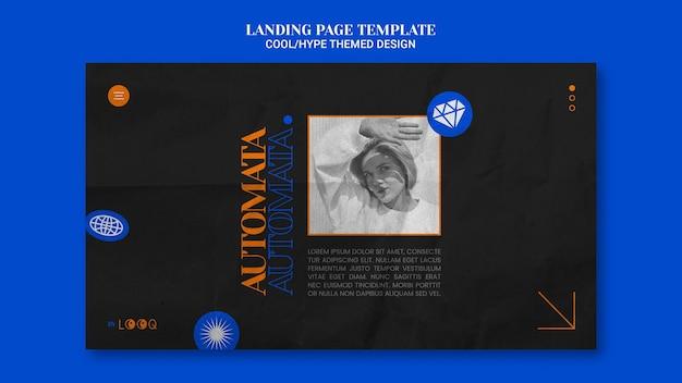 Cooles design landing page design Kostenlosen PSD