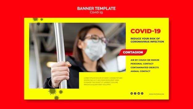 Coronavirus-banner-vorlagenkonzept Kostenlosen PSD