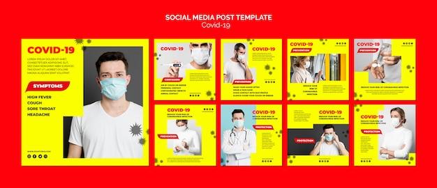Coronavirus social media post-vorlage Kostenlosen PSD
