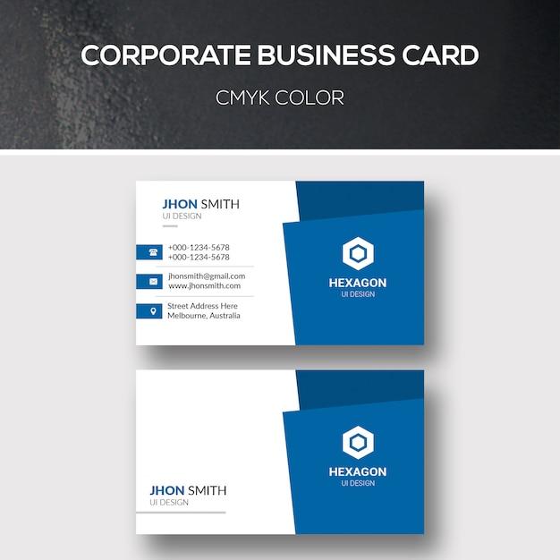 Corporate business card Premium PSD