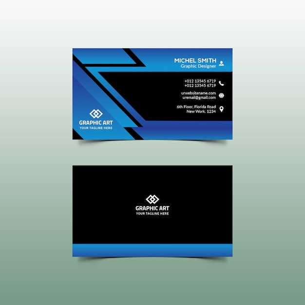 Corporate business card Premium PSD
