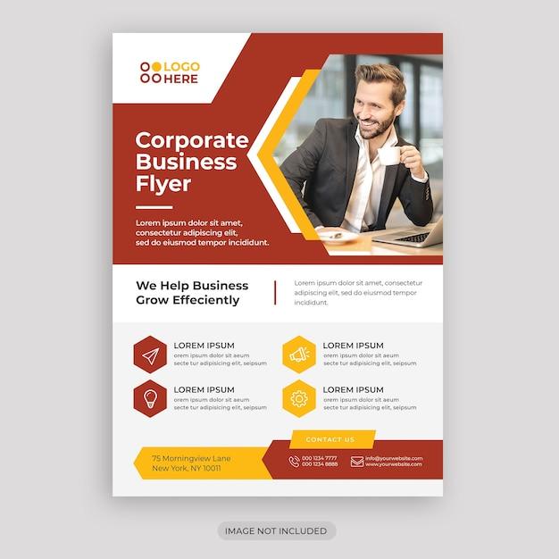 Corporate business flyer vorlage Premium PSD