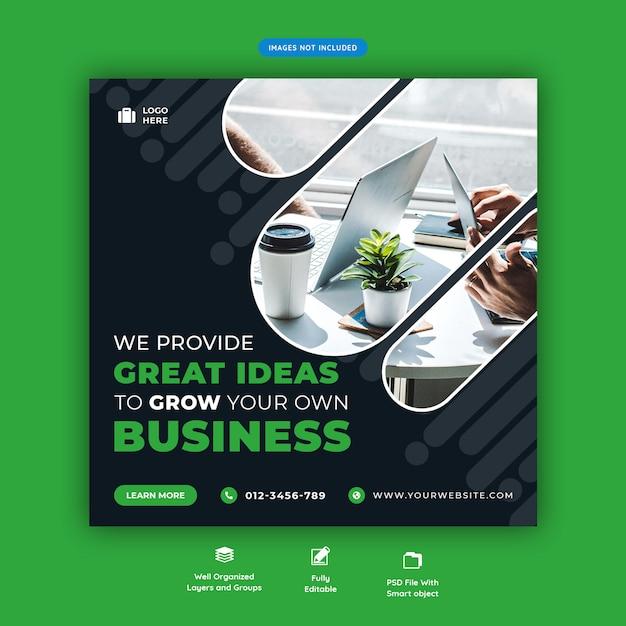 Corporate business förderung social media flyer vorlage Premium PSD