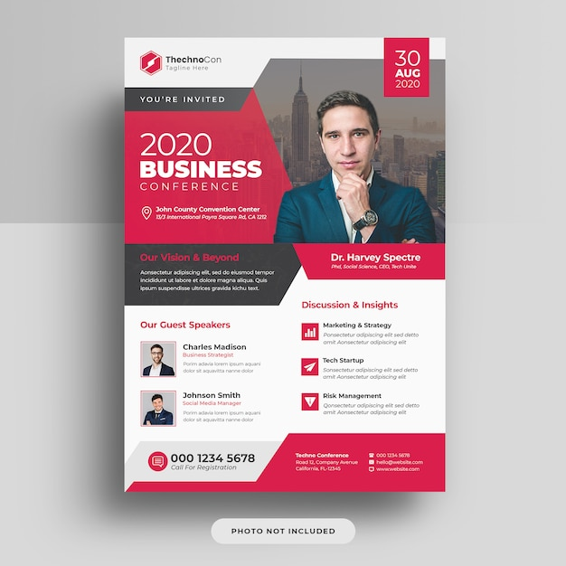 Corporate business konferenz a4 cover flyer vorlage design Premium PSD